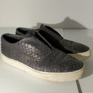 Vince Berlin python print leather slip on sneakers
